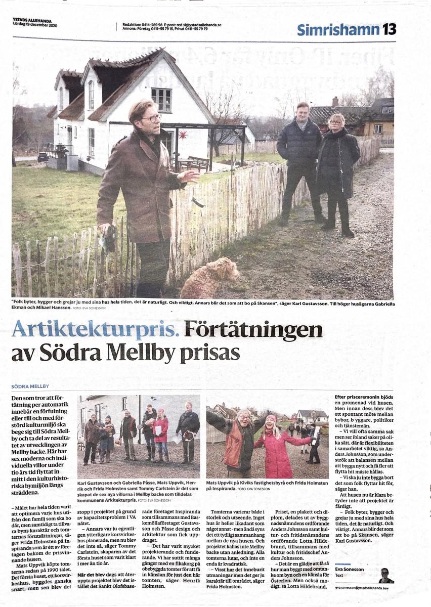 Ystads Allehanda 201219